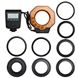 Jili Online SL-103C LED Light Macro Ring Flash with 8Piece Adapters Ring for Camera DSLR
