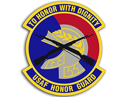 (American Vinyl Round USAF Honor Guard Sticker (air Force to Honor Dignity))