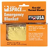 Grabber Outdoors The Original Space Brand Emergency Survival Blanket- Gold/Silver
