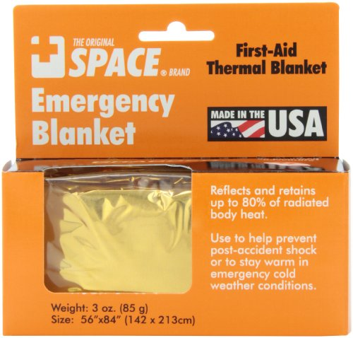 Grabber Outdoors The Original Space Brand Emergency Survival Blanket- Gold/Silver (Space Survival Blanket compare prices)