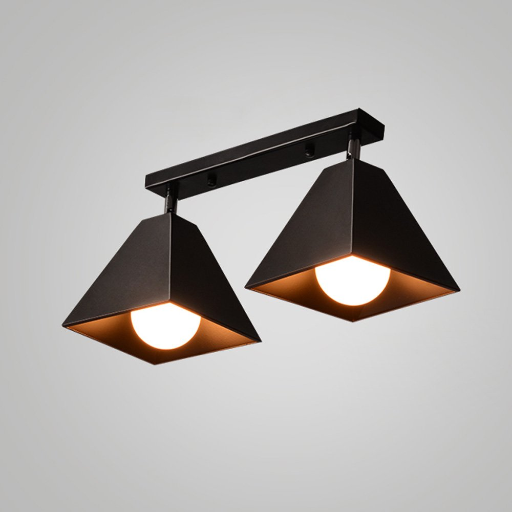 Iron Small Ceiling Lamp LED Nordic Creative Ceiling Light For Living Room Aisle Corridor Cloakroom Balcony Bay Window Cafe Chandelier ( Color : Black , Size : B )