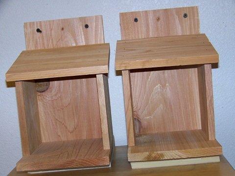 Cedarnest 2 Robins, Doves, Cardinals Nesting Shelve Platform Handmade Free -