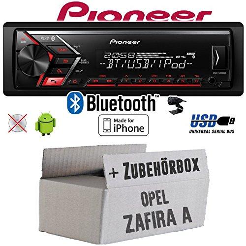 Opel Zafira A - Autoradio Radio Pioneer MVH-S300BT - Bluetooth | MP3 | USB | Android | iPhone 4x50Watt Einbauzubehö r - Einbauset JUST SOUND best choice for caraudio OpZafA_MVH-S300BT