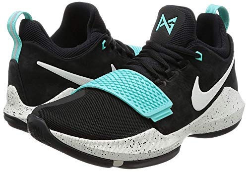 a96eb356bd1 Nike Mens Paul George PG1 Basketball Shoes Black Anthracite Gum Light  Brown Black
