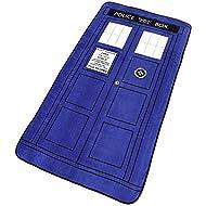 "Doctor Who Blanket - Large Dr. Who TARDIS Micro Raschel Throw - 50"" x 89"""