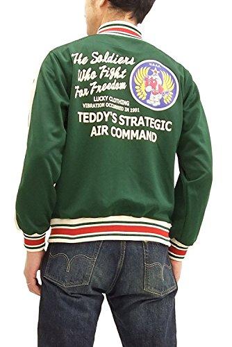 TEDMAN Men's Slim Fit Fashion Zip-up Graphic Track Jacket Efu-Shokai Green Japan XL (US M-L/UK 38-40) ()