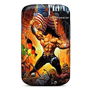 Excellent Hard Phone Cover For Samsung Galaxy S3 With Unique Design Trendy Manowar Band Pattern TammyCullen