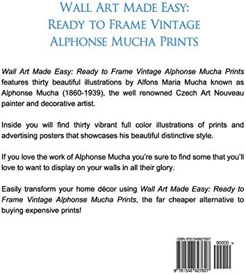 Wall Art Made Easy Ready to Frame Vintage Alphonse Mucha Prints 30 Beautiful Illustrations to Transform Your Home