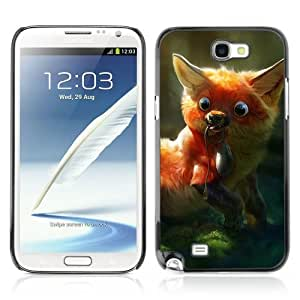 YOYOSHOP [Cute & Clever Fox Painting] Samsung Galaxy Note 2 Case