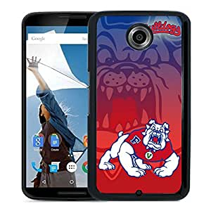 NCAA Mountain West Conference MWC Football Fresno State Bulldogs 6 Black Google Nexus 6 Screen Phone Case Unique and Fashion Design