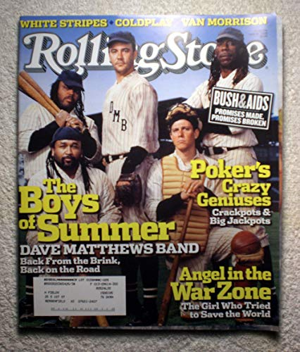 Dave Matthews Band - The Boys of Summer (Baseball Theme) - Rolling Stone Magazine - #976 - June 16, 2005 - Poker's Crazy Geniuses, Angel in The War Zone articles