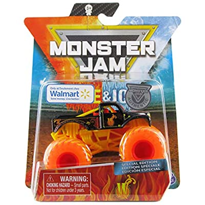 Monster Jam 2020 Fire & Ice Exclusive 'W' Whiplash 1:64 Scale Diecast by Spin Master: Toys & Games