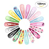 120pcs 2 Inch Hair Clips No Slip Metal Hair Clips Barrettes for Girls Toddlers Kids Women Accessories 20 Colors