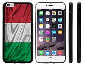 Rikki KnightTM Italy Flag Design iPhone 6 Plus Case Cover (Black Rubber with front bumper protection) for Apple iPhone 6 Plus