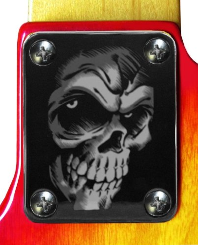 Skull Monster Chrome Engraved Neck (Engraved Neck Plate)