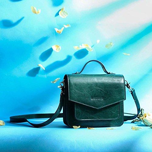 sac Leathario sac épaule pour cuir femme bandoulière main à petit sac Vert 5ARwrAqO