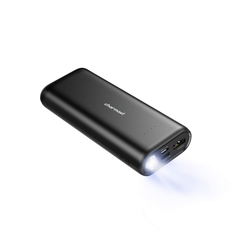 Powerbank 10000mAh Caricabatterie Portatile con LED Torcia