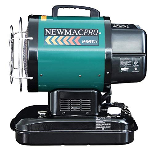 NewMac PRO NMRK-1 60,000 BTU Radiant Forced Air Kerosene Heater-CSA Approved