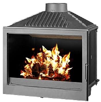 Estufa de leña Insertar - Quemador de leña de fuego construida en combustible sólido 11 kW: Amazon.es: Bricolaje y herramientas