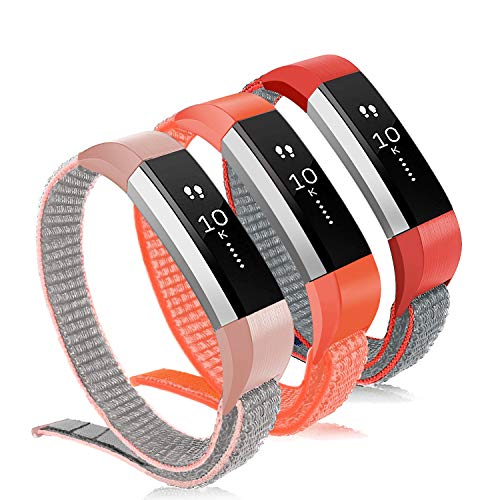 VEAQEE Compatible Alta Ace Nylon Bands, Soft Nylon Breathable Sport Wristbands for Women Man Kids Quick Release Replacement Wristband Accessories for Ace Alta HR Fitness Tracker ()