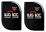 LugLoc Luggage Locator Finds Your Bags In Any Commercial Airport Worldwide This Tracker Has a Rechargeable Battery That Lasts 15 Days & Uses GSM & Bluetooth Technology (One Size, 2-Pack Black)