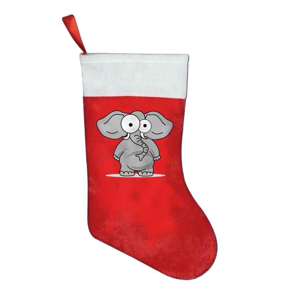 Cute Zoo Animals Elephant Classic Christmas Hanging Stockings Xmas Gift Bag Socks Xmas Tree Decoration