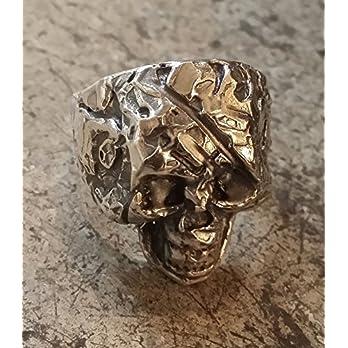 Totenkopf Ring Sterlingsilber 925 Skull Ring signierte Handarbeit