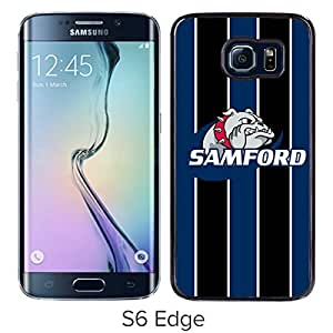NCAA Samford Bulldogs 03 Black Popular Custom Design Samsung Galaxy S6 Edge G9250 Phone Case