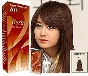 Amazon.com: Pack of 1 Box Berina Copper Blonde Hair Dye A11 Hair Color Cream Dye Copper Blonde
