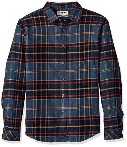 Billabong Men's Coastline Long Sleeve Flannel Denim Small