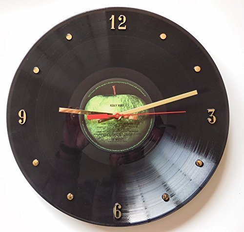 Record Clock - The Beatles (Abbey Road). Handmade