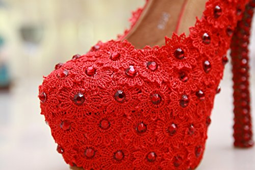 Pumps on Wedding Red Handmade 14cm Heel Slip Prom Minitoo Satin Shoes Evening MZLL024 Party Women's 7wqYxRIntv
