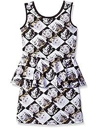 Big Girls' Allover Face Print Dress