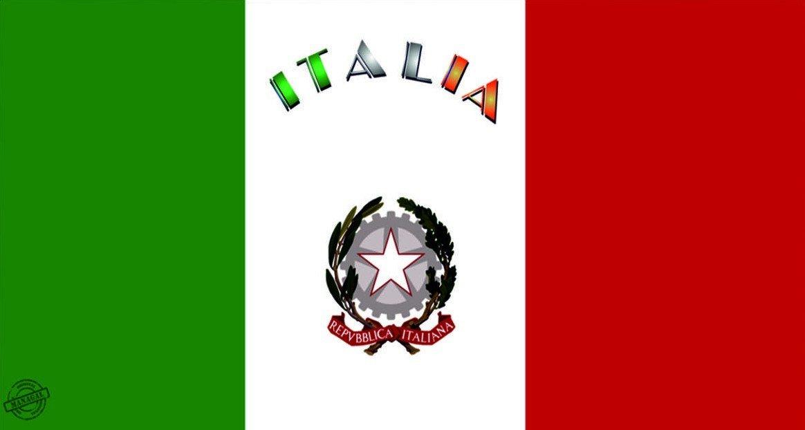 MCTISSUS Serviette de Plage Italia 75 cm x 150 cm