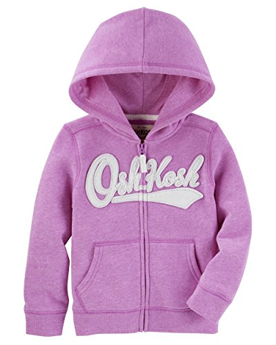 OshKosh B'Gosh Girls' Toddler Full Zip Logo Hoodie, Purple, 3T from OshKosh B'Gosh