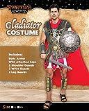 Brave Men's Roman Gladiator Costume Set for Halloween Audacious Dress Up Party