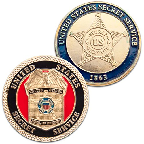 Art Crafter 1-Pack United States Secret Service Challenge Coin badge D026