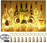 Aluan Wine Bottle Lights with Cork Christmas Lights
