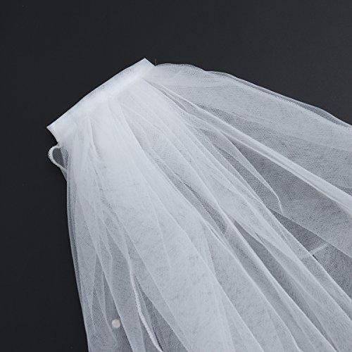 Cristallo Bordo Tulle Nozze Sposa Il Fotografia Sposa Velo bianco Di Del Bestoyard Nastro La Con Donna Fiore Da Da Ragazza Pettine E Sposa Festa Corte Per Velo 6PAfPq