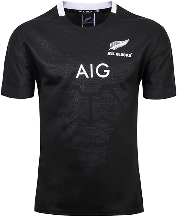 AFDLT Hombre Rugby Jersey World Cup 2019-20 All Black Home//Away Fan Casual Verano Cuello Redondo Ch/áNdales Copa Mundial Respirable Uniforme Top