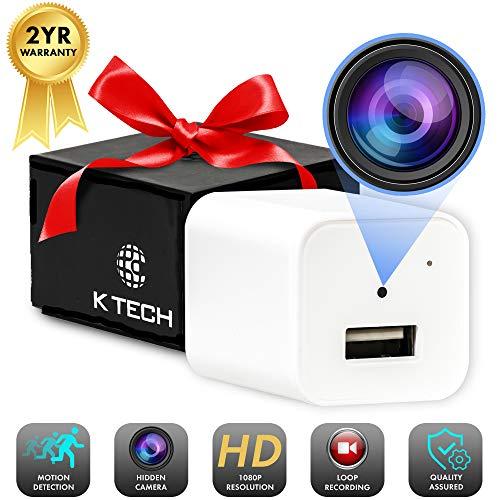 K Tech Hidden Spy Camera USB Charger, Hidden Camera, Hidden Nanny Cam, Mini Spy Camera, USB Charger Camera, Hidden Spy Camera, Hidden Spy Cam, Surveillance Camera, Security Camera, Hidden Cameras