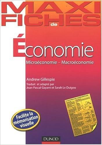 Economie : Microéconomie-Macroéconomie epub, pdf