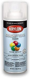 Krylon K05562007 COLORmaxx Spray Paint, Aerosol, Clear