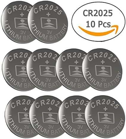 CR2025 3V Lithium Battery(10-pack)