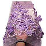 Laliva French Nigerian Laces Fabrics Tulle African Laces Fabric Wedding African French Tulle Lace - (Color: 3)