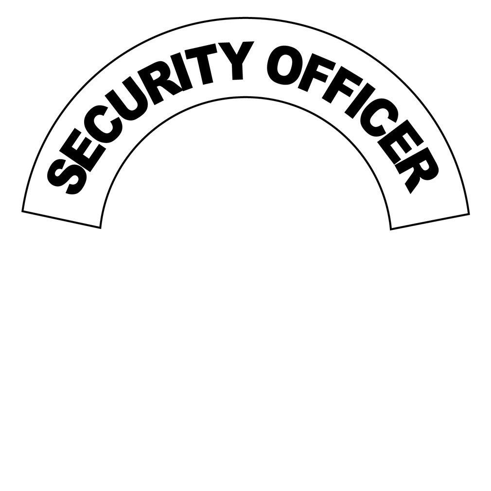Security Officer Hard Hat Labels Helmet Vinyl Stickers Decals Reflective