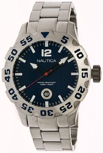 Nautica Steel Bracelet Marine Blue Dial Men's watch #N17569G