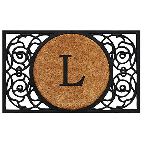 Home & More 180031830L Armada Circle Monogram Doormat 18