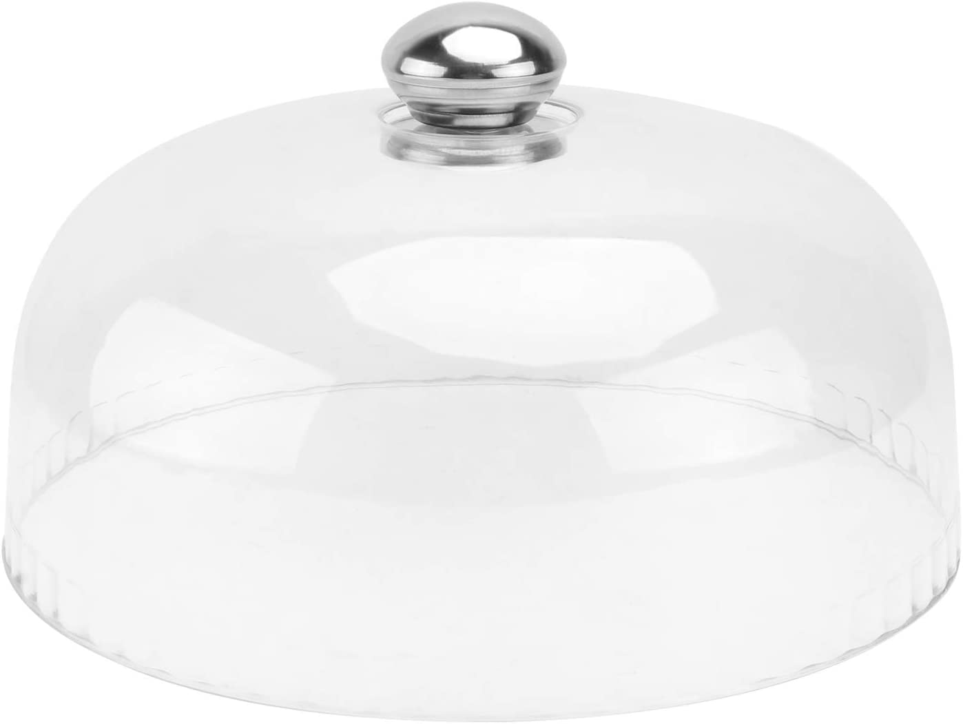 DOITOOL Cake Stand Cover Glass Desert Cloche Plastic Cake Cover Snack Tray Round Display Cake Plate Serving Platter Punch Bowl Food Tent 26x11cm