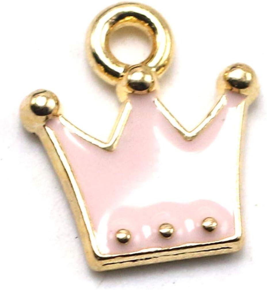 Nero KESYOO 20 Pezzi Pendenti a Forma di Corona in Lega Fai da Te Ciondoli Accessori per Fare Gioielli per Orecchini Braccialetto